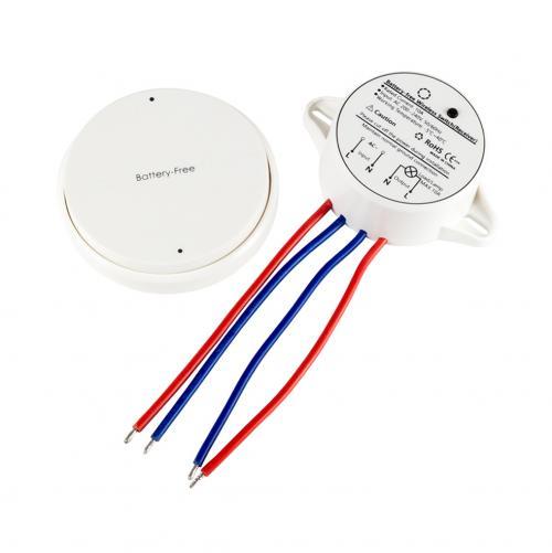 V-TAC - Безжичен Пиезо Ключ Единичен Сх1 Бял SKU: 8229 VT-541