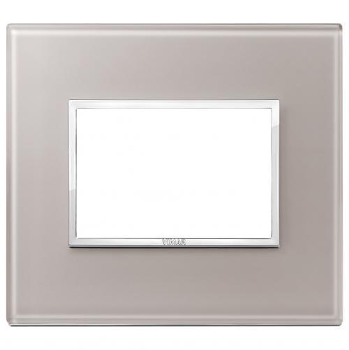 VIMAR - 21653.73 Тримодулна рамка crystal pearl grey