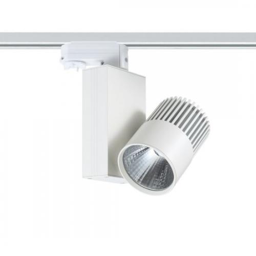 ACA LIGHTING - Релсов прожектор LED 15W 4000K за монофазна шина бял BIENAL1540W2
