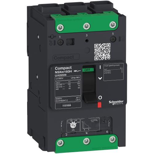 SCHNEIDER ELECTRIC - Автомат ComPact NSXm E 3P 160А TM 16kA регулируем LV426109