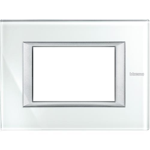 BTICINO - HA4803VSW Рамка 3М Whice стъкло правоъгълна Axolute
