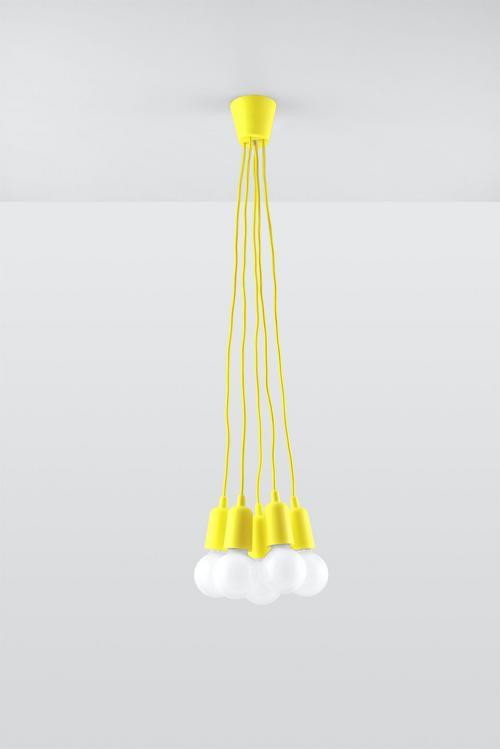 SOLLUX - Пендел  DIEGO 5 yellow  SL.0580
