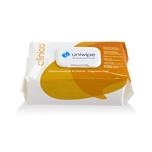UNIWIPE - Мокри кърпи Uniwipe Clinical Sanitising 100бр. U5833