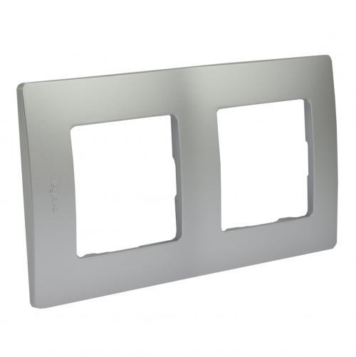 LEGRAND - Двойна рамка NILOE 397042 алуминий