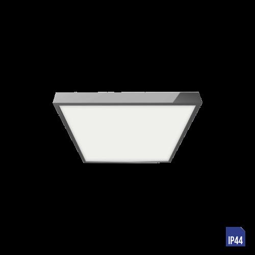 LUXERA - LED панел квадрат 12W влагозащитен IP44 външен монтаж LENYS  49029 хром