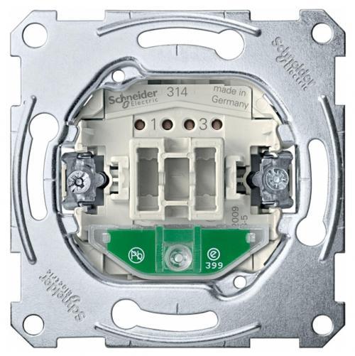 SCHNEIDER ELECTRIC - MTN3602-0000 Двуполюсен ключ механизъм 16А с индикатор  Merten