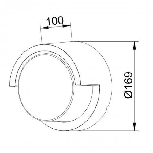 V-TAC - 12W LED Стенна Лампа 3000К Черна Кръгла Полу Периферия SKU: 8537 или 4000К 8538 VT-827