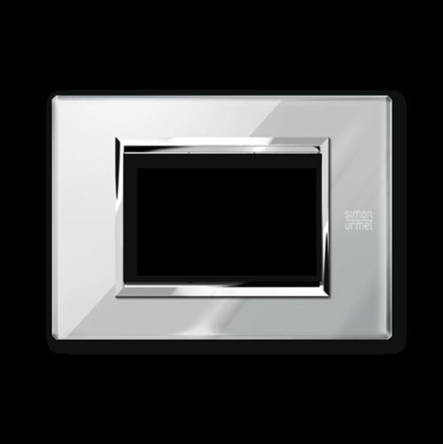 SIMON URMET - 13003.GO Opal Grey Expi тримодулна рамка