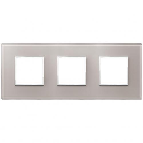 VIMAR - 21644.73 Тройна рамка crystal pearl grey