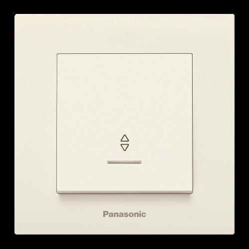 PANASONIC - Ключ девиаторен светещ Panasonic Kare крем WKTC00042BG‐EU1