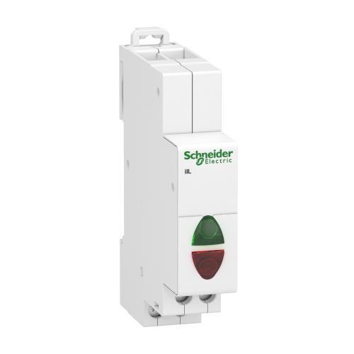 SCHNEIDER ELECTRIC - Модулен индикатор Acti 9 iIL 110…230Vac зелен/червен A9E18325