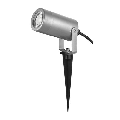 ACA LIGHTING - Градински прожектор сив с колче влагозащитен IP65 SL7030G