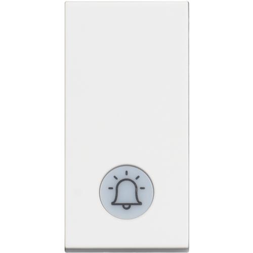 BTICINO - RW4042V230 Бутон 1 модул с LED индикация на 230V и символ звънец Classia бял