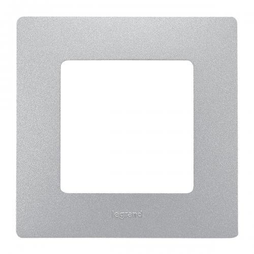 LEGRAND - Единична рамка NILOE 397041 Алуминий