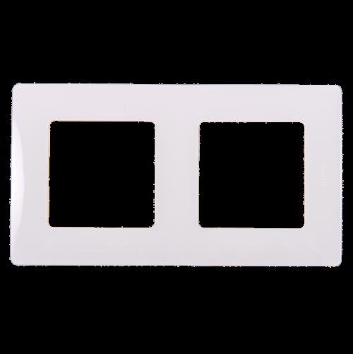 LEGRAND - Двойна рамка NILOE 665002 бяло