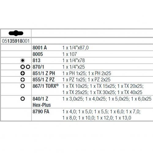 WERA - Комплект инструмент Kraftform Kompakt Zyklop Mini 2 (27 части)
