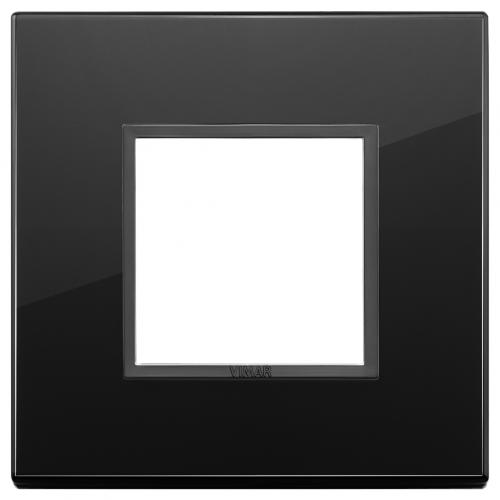 VIMAR - 21642.88 - Двумодулна рамка crystal total black diamond