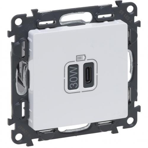 LEGRAND - Розетка USB за зареждане тип C Power Delivery 30W цвят Бял Valena Life Legrand 753155