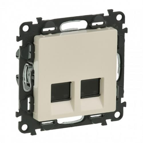 LEGRAND - 7 532 43 Double RJ 45 socket Valena Life - Cat. 6 UTP - with cover plate - ivory