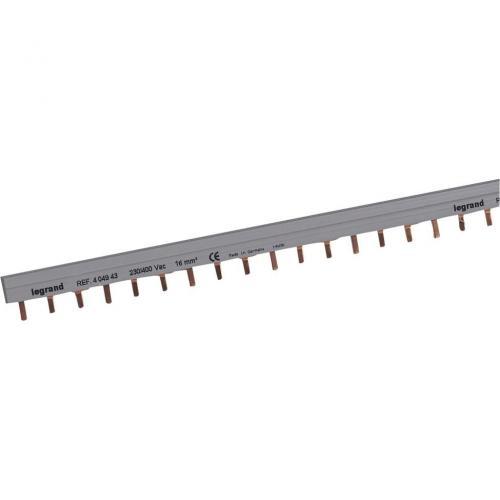 LEGRAND - Триполюсен захранващ гребен тип ПИН за max. 19 свързани устройства 16мм2 404943