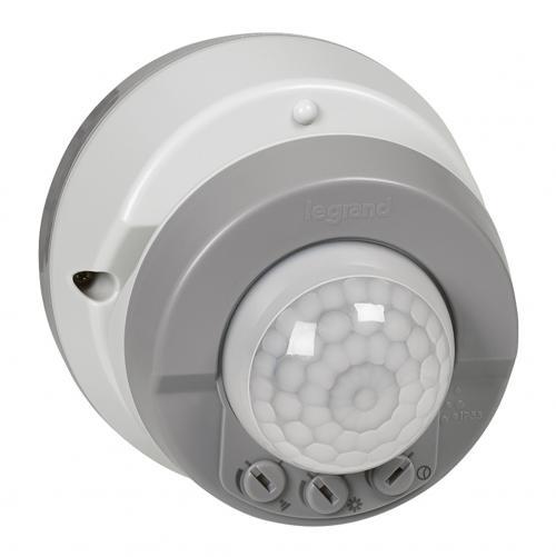 LEGRAND - 69740/ Датчик за движение за открит монтаж / таван и стена / 360° IP55 сив