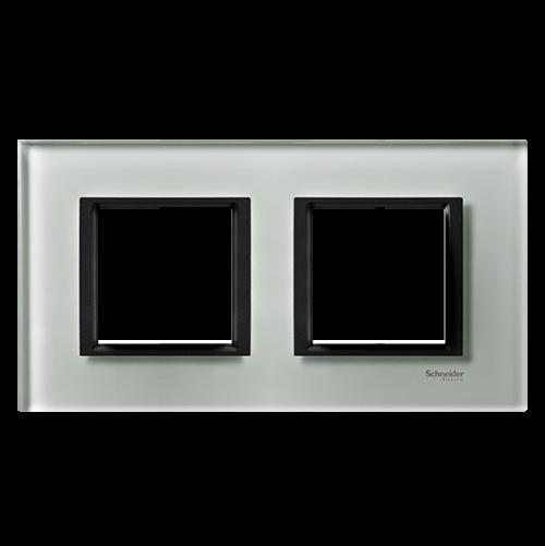 SCHNEIDER ELECTRIC - MGU68.004.7C3 декоративна рамка двойна кристално сиво Unica Class