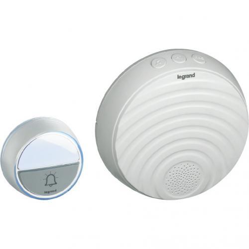 LEGRAND - 94254 Безжичен звънец бял 220V комплект с бутон