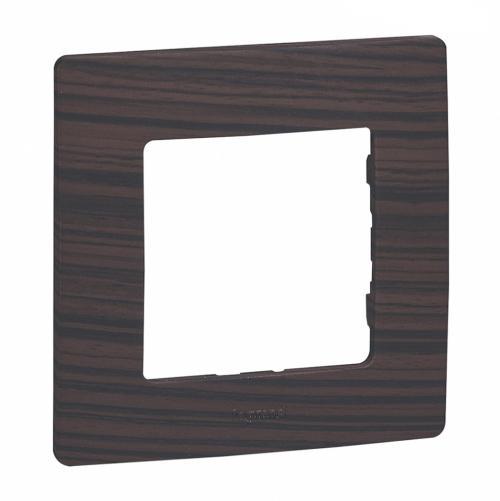 LEGRAND - Единична рамка NILOE 397091 Тъмно дърво