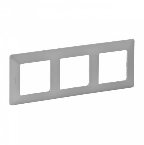 LEGRAND - Тройна рамка Valena Life 754133 алуминий