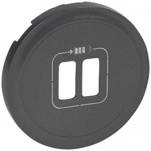 LEGRAND - Лицев панел за USB контакт  Celiane 67956 графит