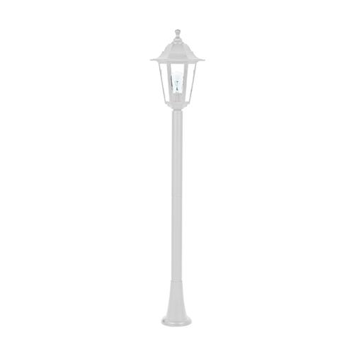 ACA LIGHTING - Градински фенер стоящ бял 100см влагозащитен IP44 PLGQ5W
