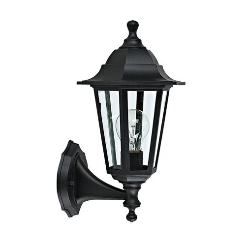 ACA LIGHTING - Градински фенер черен влагозащитен IP44 PLGQ1B