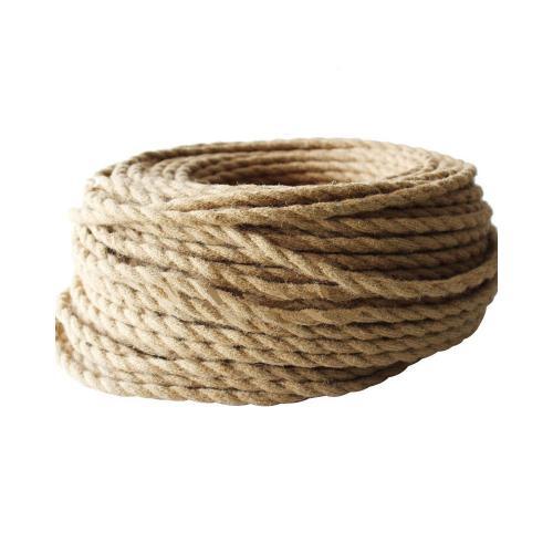 БЪЛГАРСКИ КАБЕЛ - Текстилен кабел въже конопено усукано  2x0.75