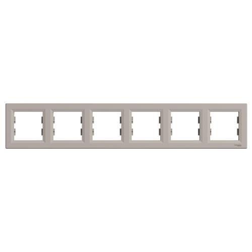 SCHNEIDER ELECTRIC - EPH5800669 Декоративна Рамка Шесторна Asfora Бронз