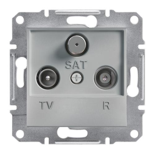 SCHNEIDER ELECTRIC - TV-R-SAT розетка крайна 1dB алуминий Asfora EPH3500161