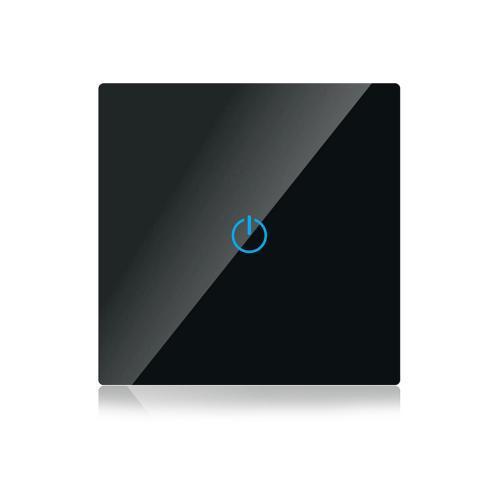 V-TAC - WIFI SMART Touch Ключ Единичен Черен Съвместим с Amazon Alexa & Google Home SKU: 8423 VT-5003-B