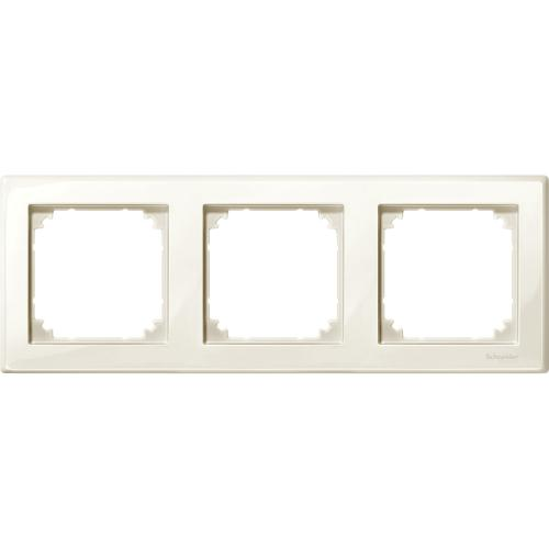 SCHNEIDER ELECTRIC -  MTN478344 M-Smart frame, 3-gang, white, glossy