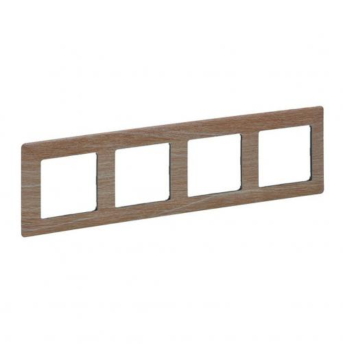 LEGRAND - 7 541 84 Plate Valena Life - 4 gang - light wood