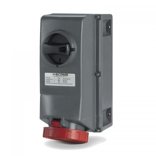 SCAME - Взривозащитен контакт 2Р+Е 16А EX II 2D зона 21/22 с мех. блокировка IP66/IP67 503.1683