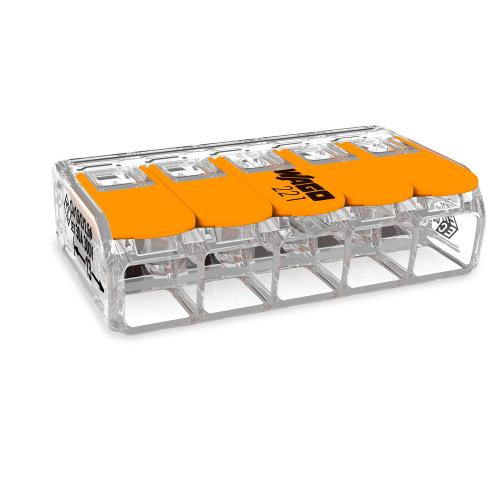 WAGO - 221-615 Петпроводна клема (0.5-6мм2) 450V/4kV/2