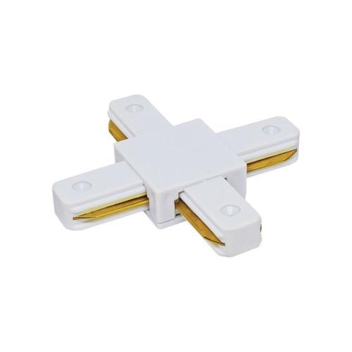 VIVALUX - Х-конектор за релса за релсови осветителни системи LINK-X - бял VIV004078