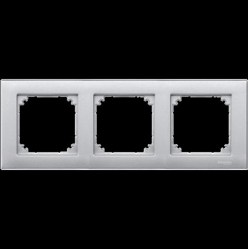 SCHNEIDER ELECTRIC - MTN486360 рамка тройна алуминий M-Plan Merten