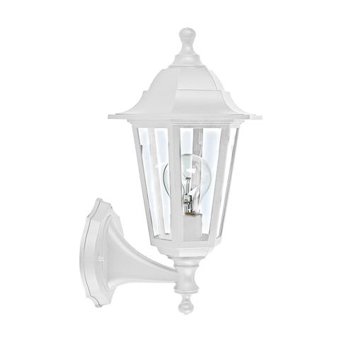 ACA LIGHTING - Градински фенер бял влагозащитен IP44 PLGQ1W