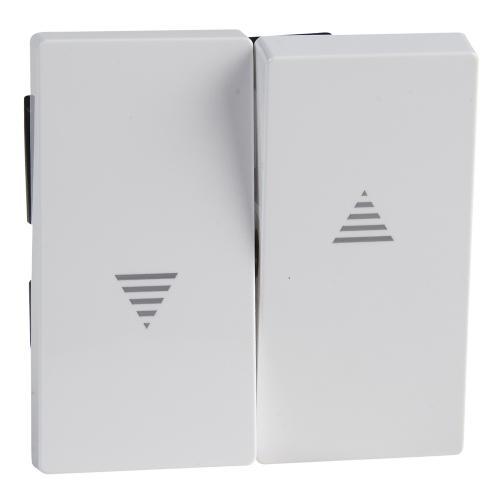SCHNEIDER ELECTRIC - MTN432425 Лицев панел за ключ/бутон за щори активно бяло System M /антибактериален/