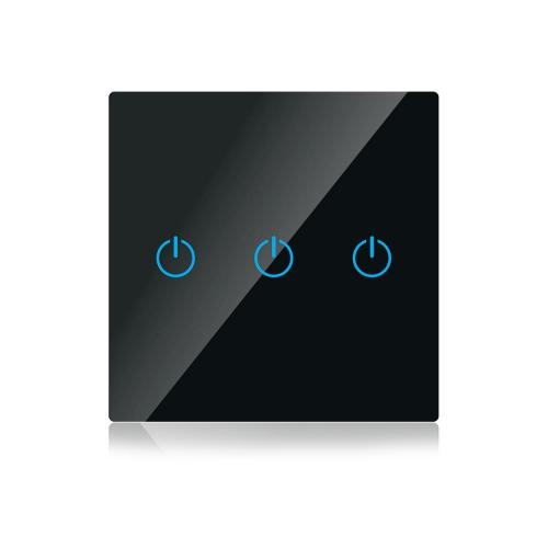 V-TAC - WIFI SMART Touch Ключ Троен Черен Съвместим с Amazon Alexa & Google Home SKU: 8425 VT-5005