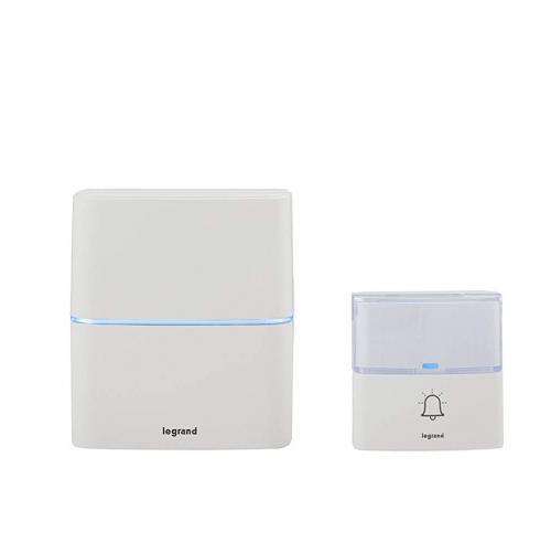 LEGRAND - 94270 Безжичен звънец бял комплект с бутон