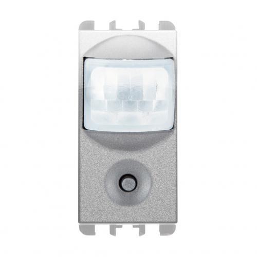 SIMON URMET - 10127.AL IR Sensor for switching on lights and presence simulator, 230Vac 6A, 1 mod.aluminium
