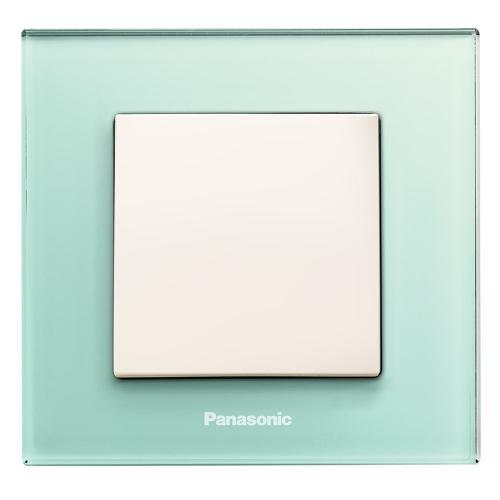 PANASONIC - Единична рамка Стъкло‐светло зелен