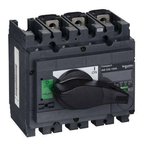 SCHNEIDER ELECTRIC - Товаров прекъсвач INS250 3P 100A с ръкохватка ComPact 31100