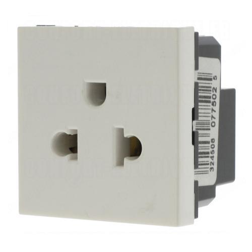 LEGRAND - 77502 Контакт US-EURO стандарт 2P+E 15A 2 мод. бял Mosaic
